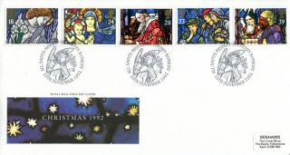 10 November 1992 Christmas Royal Mail First Day Cover All Saints Banbury Shs photo