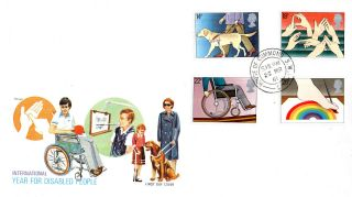 25 March 1981 Year Of Disabled People Phlart First Day Cover House Of Commons photo