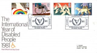 25 March 1981 Year Of Disabled People Po First Day Cover Leicestershire Committe photo