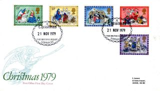 21 November 1979 Christmas First Day Cover The British Library London Wc Shs photo