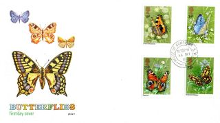 13 May 1981 Butterflies Philart First Day Cover House Of Commons Sw1 Cds photo