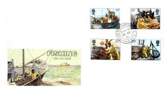 23 September 1981 Fishing Philart First Day Cover House Of Commons Sw1 Cds photo