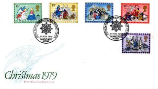 21 November 1979 Christmas First Day Cover Margate Lifeboaft Naming Shs photo