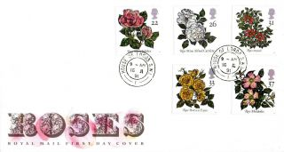 16 July 1991 Roses Royal Mail First Day Cover House Of Lords Sw1 Cds photo