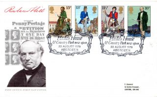 22 August 1979 Sir Rowland Hill Post Office First Day Cover Haddo House Shs photo