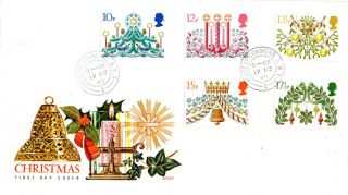 19 November 1980 Christmas Philart First Day Cover House Of Commons Sw1 Cds photo