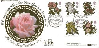 16 July 1991 Roses Benham Blcs 66b First Day Cover Drum Castle Banchory Shs photo