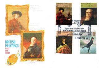 4 July 1973 British Painters Philart First Day Cover Royal Academy Of Arts Shs photo