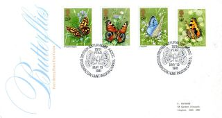 13 May 1981 Butterflies Post Office First Day Cover Naturalist Association Shs photo