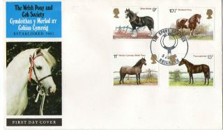 5 July 1978 Shire Horses Official First Day Cover Sport Of Kings Brighton Shs photo