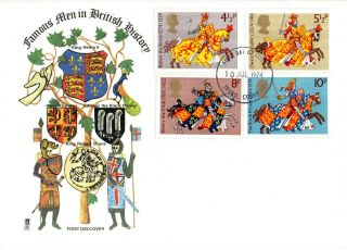 10 July 1974 Great Britons Philart First Day Cover Truro Cornwall Fdi photo
