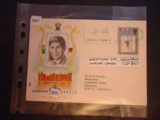 Great Britain 1969 First Day Cover Prince Of Wales.  Ivestiture Day Cat £30 photo