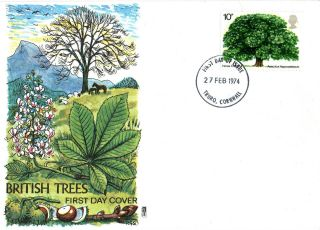 27 February 1974 The Horse Chestnut Tree Philart First Day Cover Truro Fdi photo