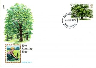 28 February 1973 The Oak Tree Philart Unaddressed First Day Cover Truro Fdi photo