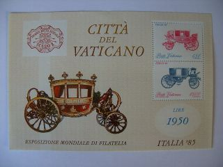 1985 Italy Stamp Expo Miniature Sheet From Vatican photo