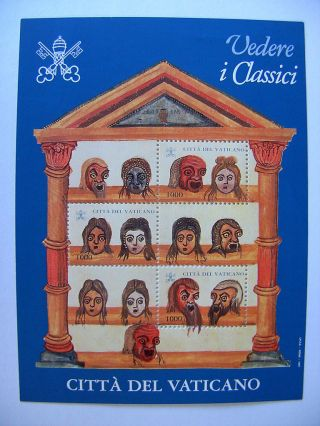 1997 Medieval Illustrations Mini Sheet From Vatican photo