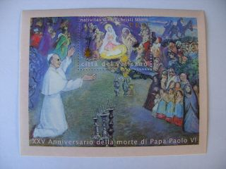 2003 Christmas Miniature Sheet From Vatican photo