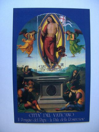 2005 Perugino Of Pope Miniature Sheet From Vatican photo