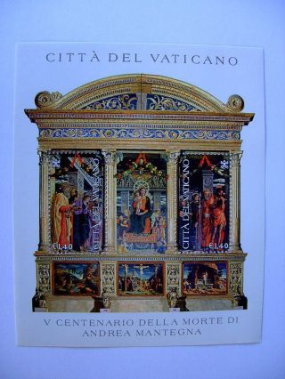2006 Andrea Mantegna Miniature Sheet From Vatican photo