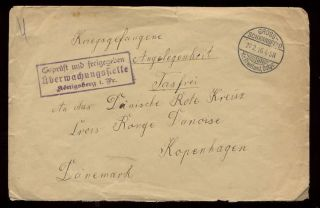 Prisoner Of War 1916 Denmark Red Cross Concession Cover photo