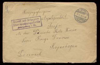 Prisoner Of War 1916 Denmark Red Cross Concession Cover photo