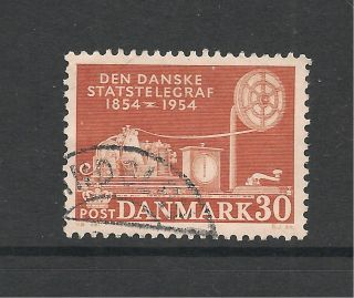 Denmark 1954 Telecommunications Centenary Sg 397 P&p Uk photo