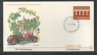 Luxembourg 708 - 709 Europa 1984 Fleetwood First Day Cover photo