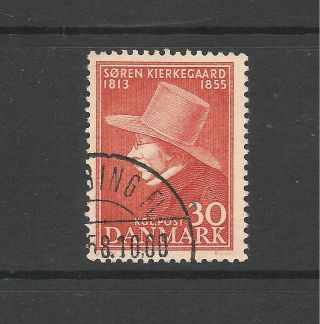 Denmark 1955 Death Centenary Of Kierkegaard Sg 405 P&p Uk photo
