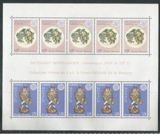 Monaco 1024a,  Europa 1976 Souvenir Sheet,  (cv=$55) photo