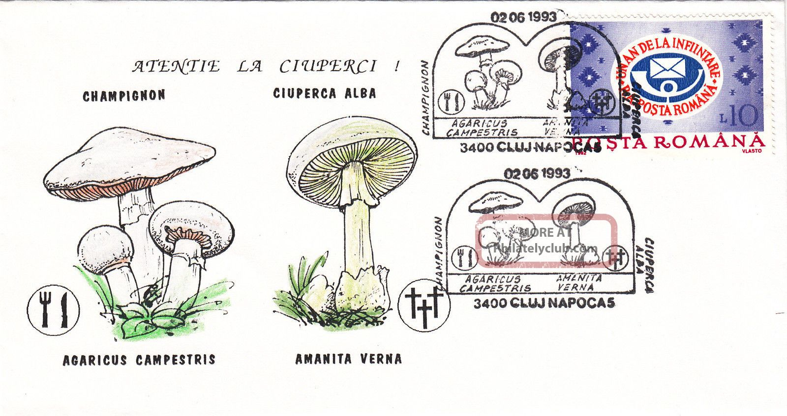 (22520) Romania Fdc - Mushrooms / Fungus 1993 Europe photo
