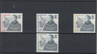 Greenland 2000 Queen Margrethe Ii 2000 Issues Sg 374/5/8/9 Rigmor Mydtskov photo