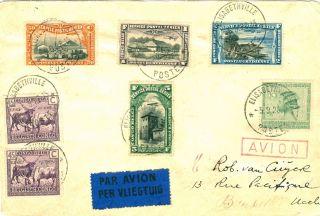 Belgian Congo,  Air Mail Cover Elisabethville To Belgium 1928 photo