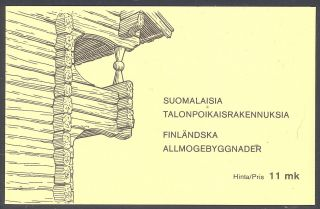 Finland 1979 Farm Houses Booklet Sc 626 Nh photo