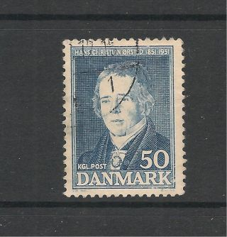 Denmark 1951 Death Centenary Of Oersted Sg 380 P&p Uk photo