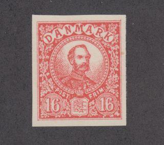 Denmark Mng.  1901 16ö Red King Christian Essay,  Vf photo