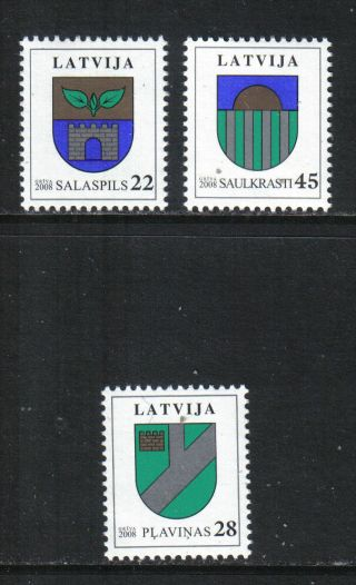 Latvia 2008 Town Coats Of Arms - - Attractive Art/heraldry Topical (696 - 98) photo