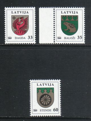 Latvia 2009 Town Coats Of Arms - - Attractive Art/heraldry Topical (726 - 28) photo
