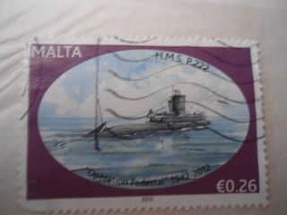 ' Operation Pedestal ' Malta Stamp photo