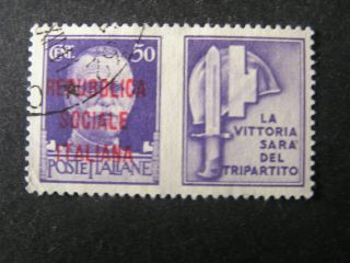 Italy Social Republic Scott 15,  1944 Honoring The Army Overprintred Issue photo