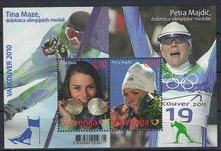 Slovenia 2010 Vancouver Medal Winners - Tina Maze & Petra Majdic Michel B50 photo