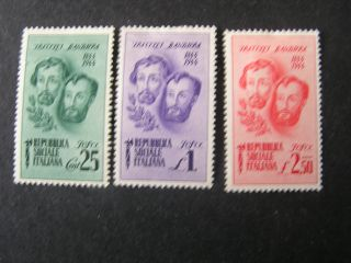 Italy Social Republic Scott 32 - 34 (3),  1944 Bandiera Brothers Issue Mh photo