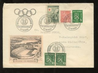 Finland Olympics 1954 Illustrated Cover Special Cancels photo