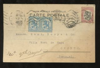 Finland To Portugal 1922 Post Card photo