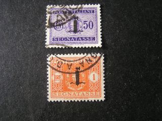 Italy Social Republic Scott J7+j9,  (2),  1944 Postage Due Issue photo