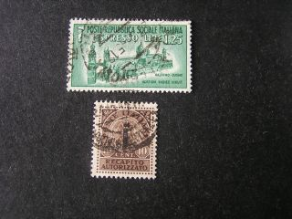 Italy Social Republic Scott E3+ey1 (2),  1944 Special Delivery Issue photo