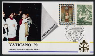 Vatican 422,  570 Vaticano 90 Photo Cover,  Pope John Paul Ii photo