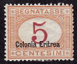 Eritrea Scott J1b Stamp - Hinged - Sharp Early Classic Stamp photo