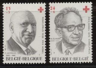 Belgium Red Cross - Nobel Prize Winners - 2vals - 1987 - Cruzroja - Croixrouge - Rodekruis photo