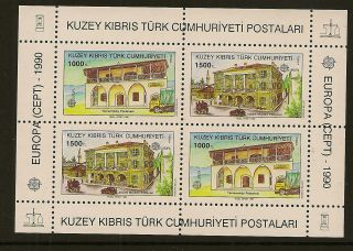 Turkish Cyprus : 1990 Europa Miniature Sheet Sg Ms 277 Unmounted photo