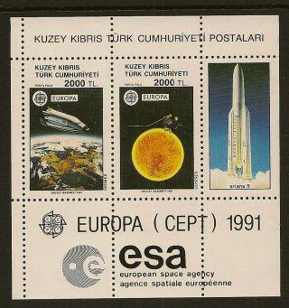 Turkish Cyprus : 1991 Europa Miniature Sheet Sg Ms 306 Unmounted photo